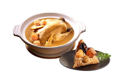 老協珍干貝粽(4入)+干貝熬雞湯