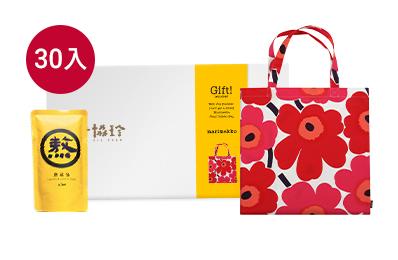 老協珍Marimekko絢麗綻放-熬雞精勇敢珍藏禮盒(附Unikko罌粟花肩背購物袋)