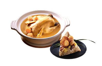 老協珍鮑魚干貝粽(2入) + 干貝熬雞湯