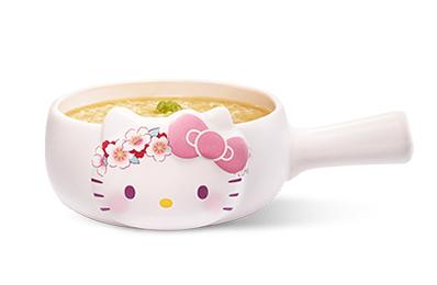 Hello Kitty雙櫻繁盛熬湯粥(附牛奶鍋-吉野櫻款)