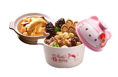 Hello Kitty豬玉滿堂佛跳牆(附陶瓷砂鍋)+干貝熬雞湯(無附砂鍋)