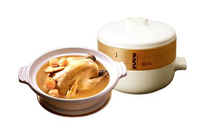 干貝熬雞湯+JIA Inc.蒸鍋蒸籠組_湯到貨後鍋具7天內送達