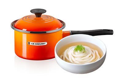 熬湯麵(6人份)+Le Creuset琺瑯湯鍋16cm(火焰橘)