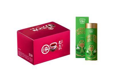 養生飲(6入)5盒享TWG摩洛哥薄荷綠茶緞帶禮盒1組